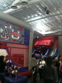 "The ""first bounce room"" at Bounce U in Huntington Beach, CA."
