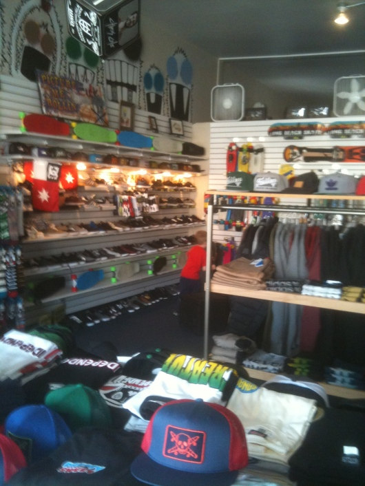 Long Beach Skate's larger retail space at the corner of 7th Street and Obispo Ave.