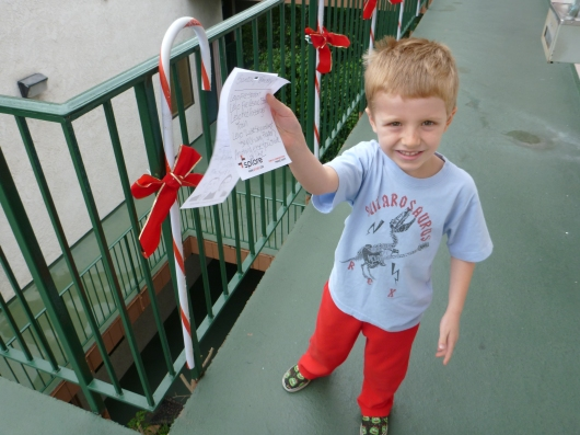 T has his list in hand ready for Santa!