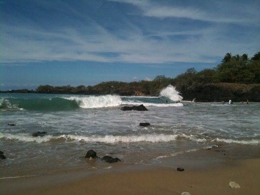 Winter swell is alive and kickin' out at Mile Marker 69 Beach. Wow!