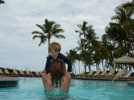T and I at the Kohala Pool Spring 2011.