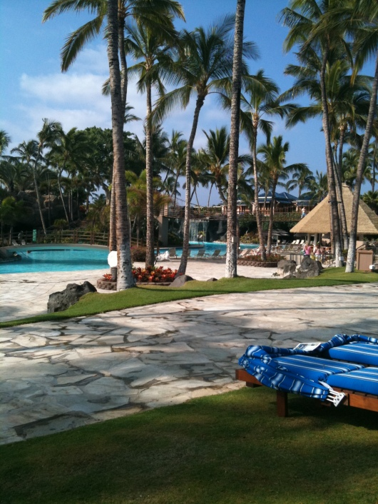 A wide shot of the Kona Pool at the Hilton Waikoloa Village Resort (taken Spring 2012).