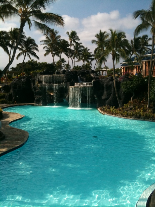 Kona Pool at the Hilton Waikoloa Village Resort.