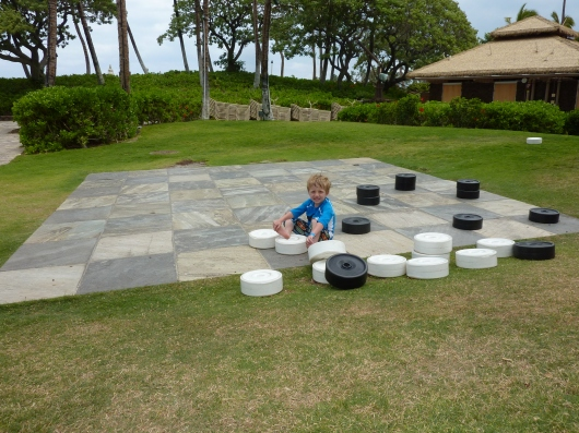If you get tired of the pool (big if, but still), you can go for a game of checkers on the big board right next to the kids' beach area of the Kona Pool.