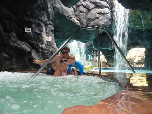 Us in the jacuzzi in the grotto at the Kona Pool (Spring 2012).