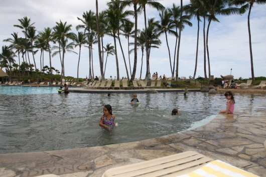 "The kids' ""beach"" area of the Kona Pool (taken Spring 2011)."