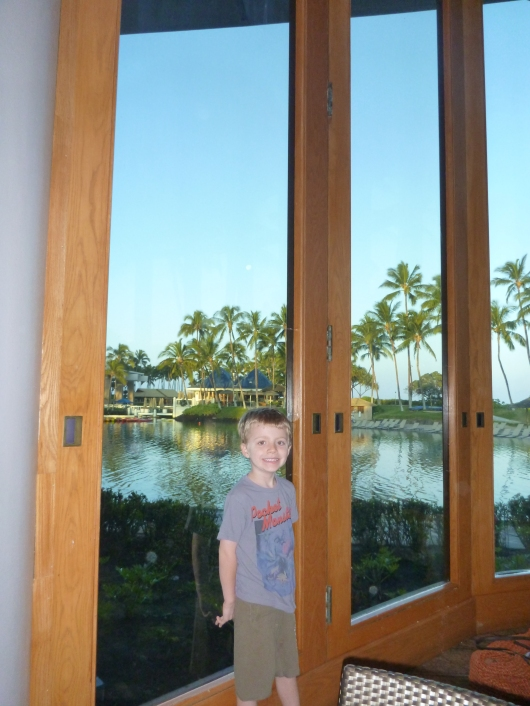 T at Big Island Breakfast at Water's Edge at the Hilton Waikoloa Village.