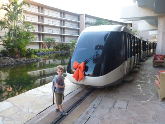 Happy Holidays from the Hilton Waikoloa monorail!