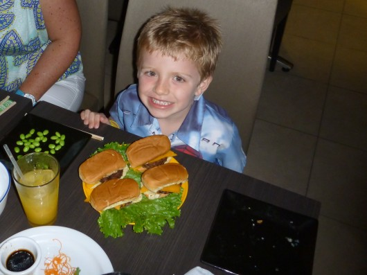 Would you call these mini-cheeseburgers? I know, not so mini, right?! T loved these also (and so did we actually!).