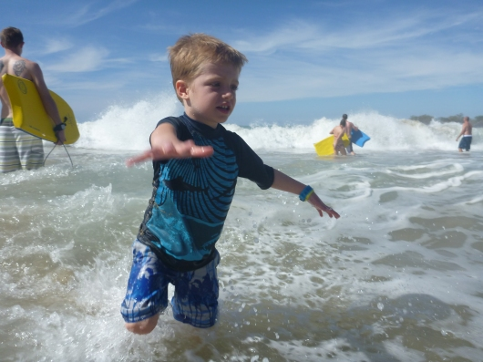 "T ""surfing"" the winter swell. Surf was definitely up!"