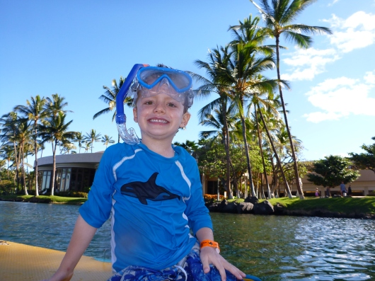 T loves snorkeling about as much as C and I do, and that's fantastic!