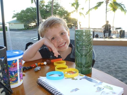 T with C's Tijuana Tiki at the Lava Lava Beach Club (Big Island, HI).