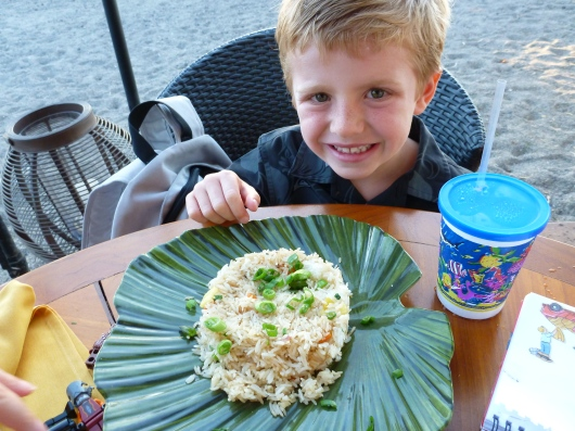 Child's Pineapple Fried Rice at Lava Lava Beach Club.