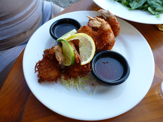 Coconut Shrimp at Lava Lava Beach Club.