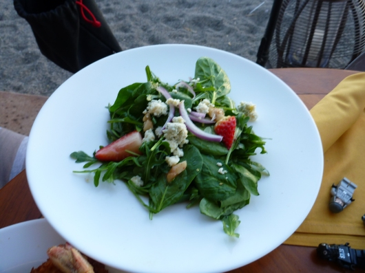 Local farm-to-table style green salad at Lava Lava Beach Club.