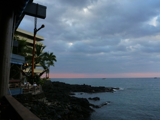 The view at Huggo's (Kona, HI).