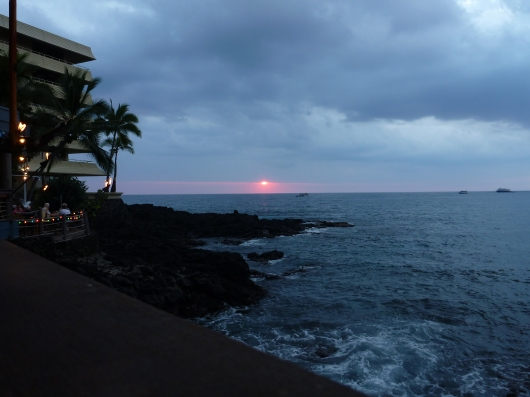 One last sunset photo from our Big Island vacation. This one is the view from Huggo's (Kona, HI).