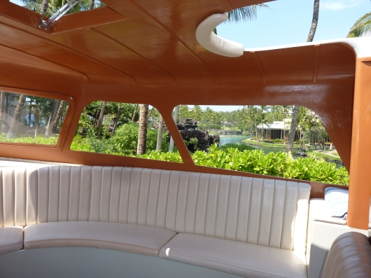 A view from one of the canal boats at the Hilton Waikoloa. Sit back and enjoy the ride!