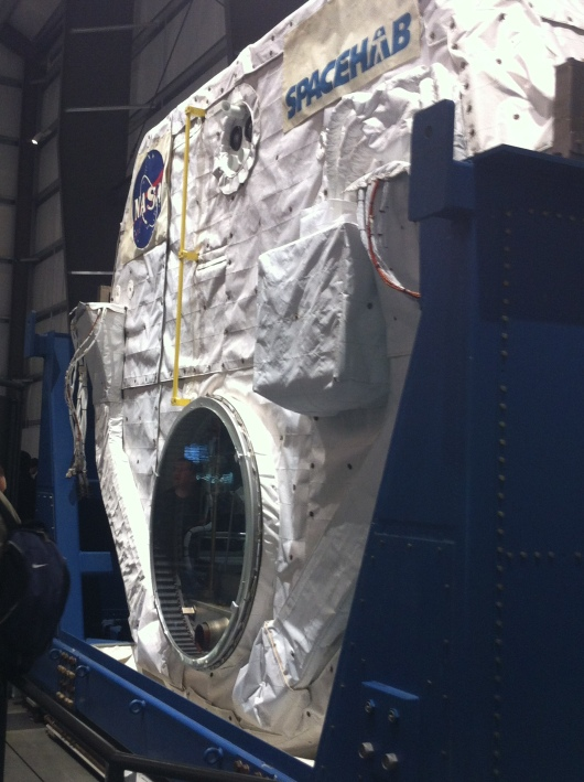 SpaceHab modular cargo holds like this one flew aboard the various shuttles to transport cargo and materials to the International Space Station.