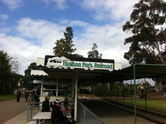 The Balboa Park Railroad in San Diego (CA).