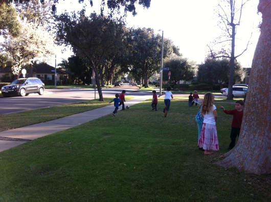 It was a gorgeous afternoon for a pick-up soccer game at our play group Valentine's party!