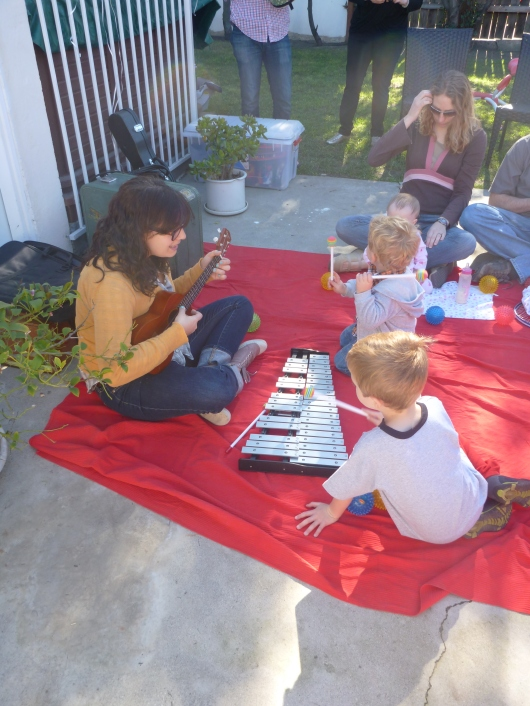 More Glockenspiel fun at the Andrew & Polly show!