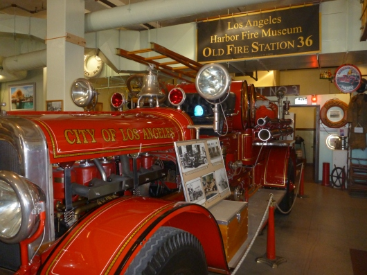 """Old fire truck at """"Old 36s"""" in San Pedro (CA)."""