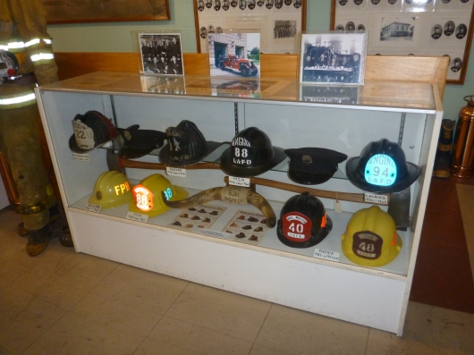 A history of hats down at the LAFD Harbor Museum in San Pedro (CA).