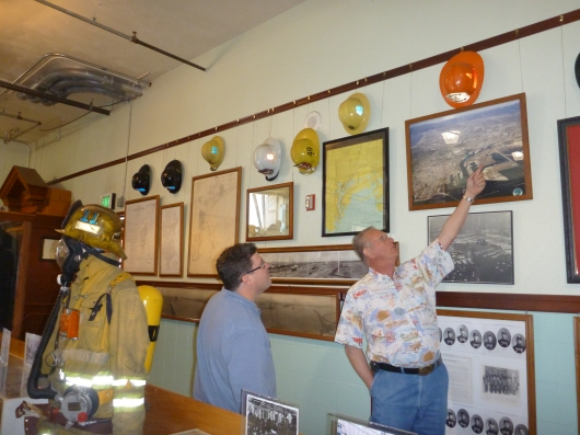 """C learns about some of LAFD's past down at the Harbor Fire Museum, AKA """"Old 36s."""""""