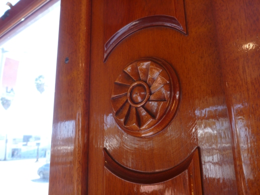 The woodwork inside of the Red Car trolleys is exquisite. True craftsmanship.