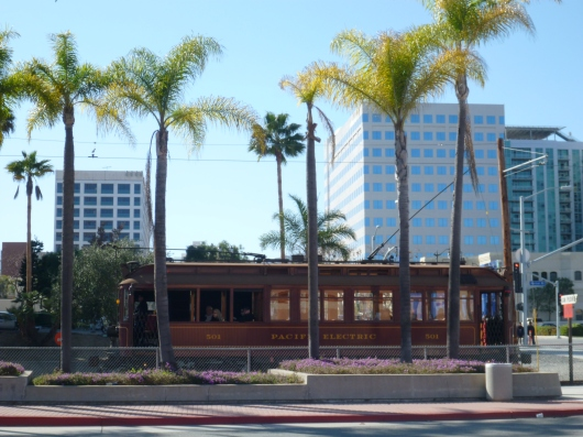 The Pacific Electric Railway Red Car in San Pedro, CA.