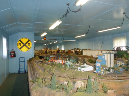 The expansive train displays brought to you by the Angels Gate Hi-Railers Model Railroad Club.