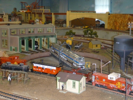 The roundhouse display at AGHR's clubhouse.