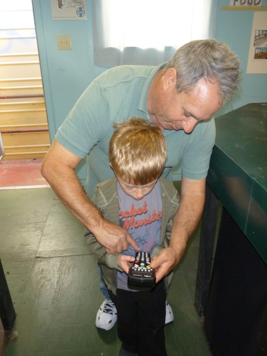 T gets to drive the trains thanks to this AGHR member handing over the remote last Saturday.