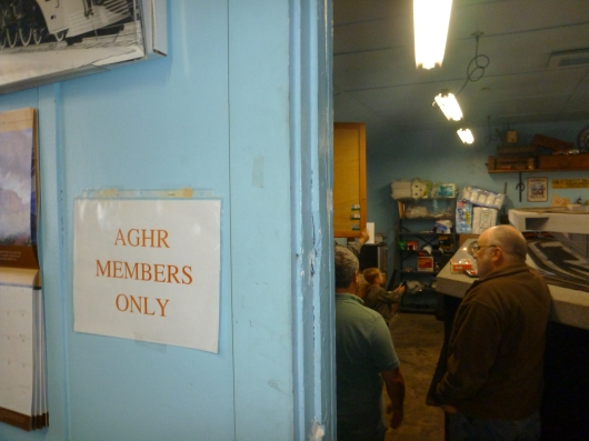 The members-only room at the AGHR clubhouse. Wait, how'd T get in there?!
