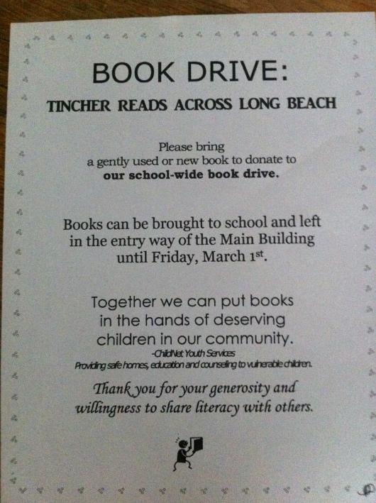 Book Drive 2013!