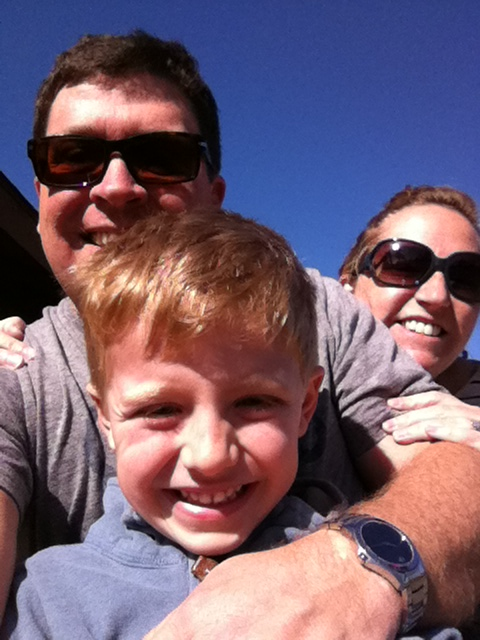 A family that rides trains together has a whole lot of fun!