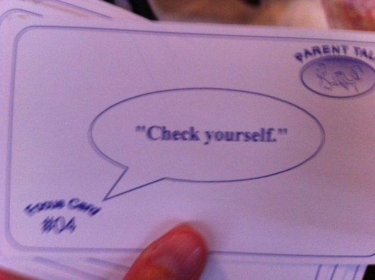 "Another short-hand way of asking a child to ""please make a different choice."" (Cards from Parent Talk's Chick Moorman.)"