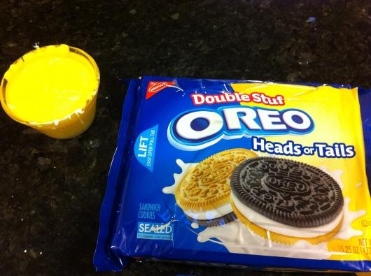 "I turned yellow white chocolate into ""Oreo Eggs""!"