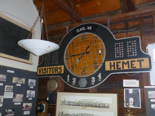 Old scoreboard from Hemet High School at the Hemet Museum.