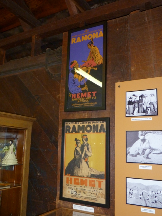 "Old advertising posters for the ""Ramona"" pageant, or what's proclaimed on its website as America's longest running drama (est. 1923). This year's performances will be held April 20 & 21, April 27 & 28 and May 4 & 5, 2013, at the Ramona Bowl Amphitheatre in Hemet, CA."