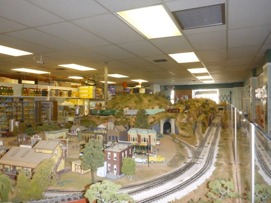 Dynamic Hobbies prides itself on their O-gauge model train layout.