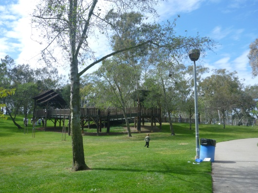 Wilson Park in Torrance, CA, is also home to a very large and lumbering wooden tree house.