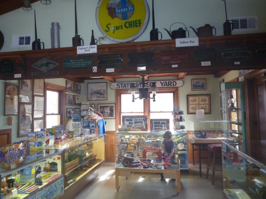 A view inside of the Lomita Railroad Museum.