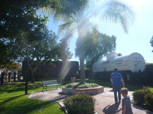 There's also a small ourdoor area across the street from the main property of the Lomita Railroad Museum. This is usually what the museum rents out for special events like birthdays, but it is open to visitors otherwise.