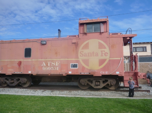 Little Red Caboose, chug chug chug... this is on display outside at the Lomita Railroad Museum.