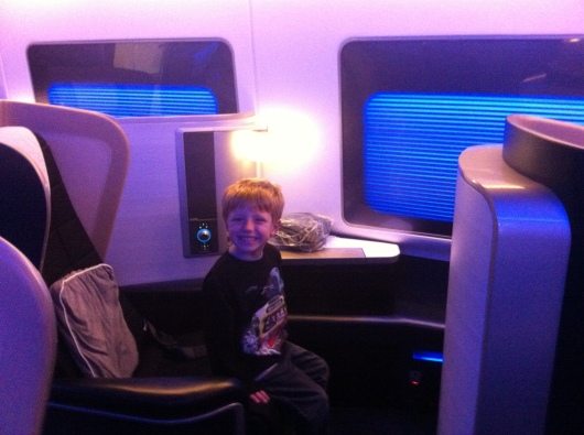 "T loved his ""little house"" in BA's First cabin."