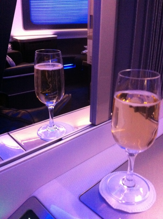 Champagne wishes and caviar dreams come true in BA's First Lounge and Cabin.