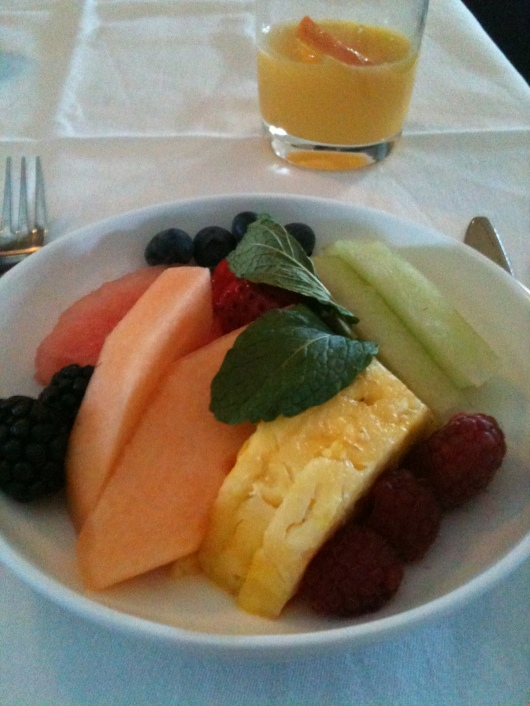 A fruitful morning aboard BA's First cabin.