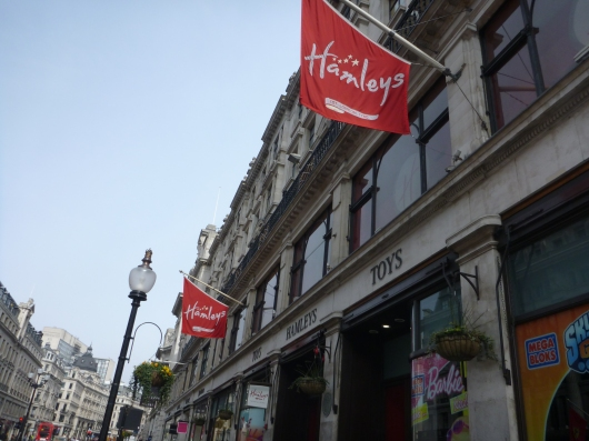 Hamleys on Regent Street is London's renowned toy store.